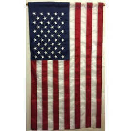 US Flag with Pole Hem