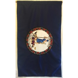 3' x 5' Nylon Virginia Flag with Pole Hem